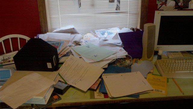 Ths desk of no return.